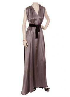 Roksanda Ilincic Two Tone Silk Gown With Belt- Clothes Fashion