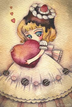 https://flic.kr/p/7CRGeM | chocolateday | 10cm x 14.8cm / watercolor on paper / 2010  To everyone with or without their valentine... Have a wonderful Valentine's Day :)  To everyone else who doesn't care much for Valentine's Day... Have an awesome Sunday ;) In the meantime, check out my new interview at www.nonsolokawaii.com!