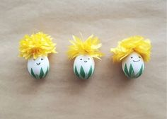Plant a floppy tissue paper hat on eggs dolled up with delicate smiles to create this whimsical bunch. Get the tutorial at The Pink Doormat »  - GoodHousekeeping.com