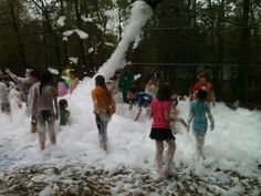 Kids Foam Party! This is a great event for kids and they absolutely LOVE it! They have it twice a year at Land-O-Pines!   www.camplop.com