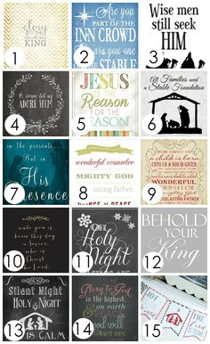 FREE Christ-Centered Christmas Printables- the perfect way to add some meaningful decor to your home for the holidays!