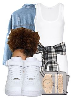 """""""Bestfriend// Young Thug"""" by jvixenz ❤ liked on Polyvore featuring Chicnova Fashion, American Vintage, NIKE, MICHAEL Michael Kors and Anne Klein"""