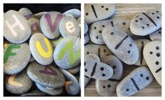 Activity stones can provide hours of open-ended play opportunities for your children. Take a stroll along the beach or lake, or in the park, and collect smooth rocks. Back home, decorate them with acrylic paints to create dominoes, letter and number stones, X's and O's or story stones. For a bit of shine, polish with bee's wax or add a coat of craft varnish.