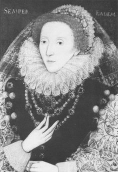 """Elizabeth I with her motto """"Semper Eadem"""". Artist Unknown."""