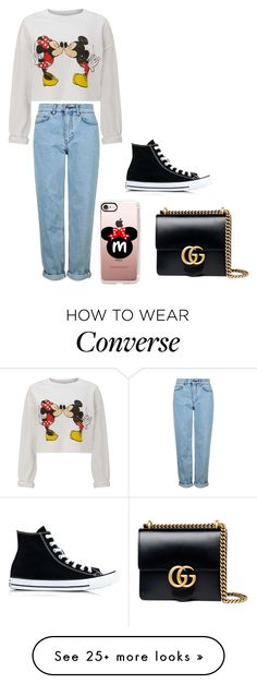 """""""Untitled #106"""" by iuliamariacristea on Polyvore featuring Miss Selfridge, Casetify, Topshop, Gucci and Converse"""