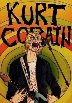 Find images and videos about rock, nirvana and kurt cobain on We Heart It - the app to get lost in what you love. Rock Posters, Band Posters, Concert Posters, Kurt Cobain Art, Nirvana Kurt Cobain, Rock And Roll, Grunge, Nirvana Art, Nirvana Songs