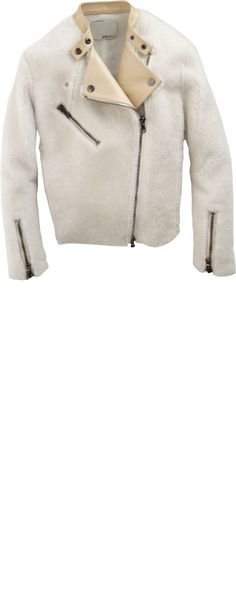 3.1 Phillip Lim Shearling and Leather Motorcycle Jacket