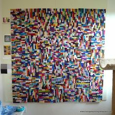 """Making this one now...I've named mine """"Teenage Daughter"""" and I'm going to add black borders between the inner blocks that alternate and the outer """"border"""" blocks...then black all the way around. It's making me crazy but will be beautiful when it's done ...thus the name ;-)"""