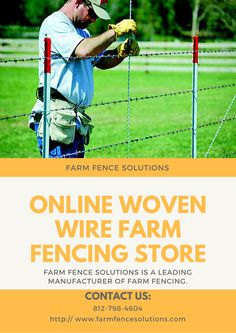 Farm Fence Solutions is a leading online woven wire farm fencing store provides woven wire fence and electric fencing products at a competitive price.
