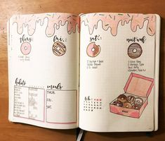 17 Donut bullet journal layout and spread ideas Donut Bullet Journal Layout & verbreiten Ideen February Bullet Journal, Bullet Journal Books, Bullet Journal 2020, Bullet Journal Themes, Bullet Journal Spread, Bullet Journal Layout, My Journal, Bullet Journal Inspiration, Journal Ideas