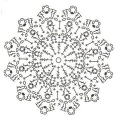 Crochet flower diagram - Вязаные мотивы