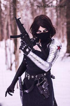 Cosplays de Heróis e Vilões Masculinos em versões Femininas (Soldado Invernal)