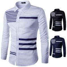 Luxury Mens Long Sleeve Fashion Casual Shirt Slim Fit Stylish Dress Shirts Tops in Clothing, Shoes & Accessories, Men's Clothing, Casual Shirts African Shirts For Men, African Dresses Men, African Attire For Men, African Clothing For Men, Nigerian Men Fashion, African Men Fashion, Mens Fashion, Casual Shirts For Men, Men Casual