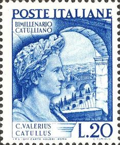 Emesso il 19 settembre 1949 20 L. - Ritratto di Catullo e ponte sull'Adige