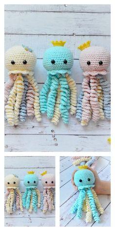 Crochet Baby Mobiles, Crochet Mobile, Crochet Baby Toys, Crochet Wool, Baby Hats Knitting, Octopus Crochet Pattern Free, Crochet Octopus, Crochet Amigurumi Free Patterns, Free Crochet