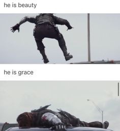 he is beauty he is grace he will fall flat on his face