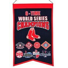 MLB Baseball Boston Red Sox 14x22 Heavy Wool with Embroidery Sport Team Logo 3 Time World Series Champions Banner #2004 -- Awesome products selected by Anna Churchill