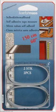 11106 Zwei Stück Selbstklebendes Maßband 15mm/150cm, cm Einteilung