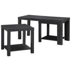 Altra Furniture Holly Bay 3 Piece Coffee and End Table Set ($88) ❤ liked on Polyvore featuring home, furniture, shelving furniture, shelves furniture, shelf furniture and holly furniture