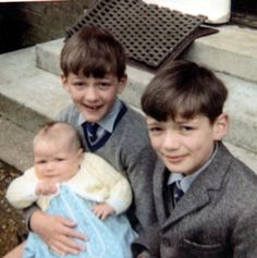 Young Stephen Fry (left) and siblings.