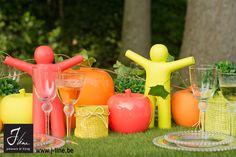 Pom-Pom-Pommes by J-line Small Lanterns, Tea Light Holder, Hot Sauce Bottles, Summer Collection, Tea Lights, Deco, Color, Tealight Candle Holders, Tea Light Candles