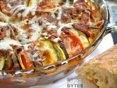 Roasted vegetables get the pizza treatment (herbs + marinara + cheese) in this savory Oven Roasted Ratatouille. Step by step photos.