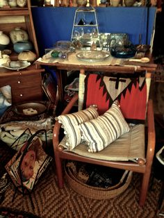 Vintage Russian striped with pom poms. Sold at Merchant in Santa Monica, Ca.