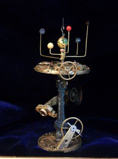Miniature Orrery on Stand by artisan Mike Barbour