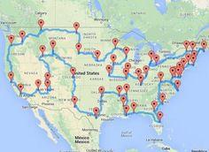 """Voyage aux États-Unis : le """"road trip"""" idéal calculé par un ordinateur"""
