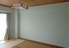 和室の壁を「けいそうリフォーム」で塗り替え♪淡いグリーン・・・綺麗。