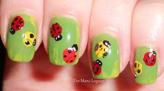 Ladybug Nails Fingernail Designs, Nail Art Designs, Ladybug Nails, Self Nail, Fete Ideas, Garden Pests, Creative Nails, Ladybugs, Nails Inspiration