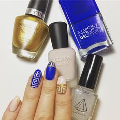 """MeeBox ���� on Instagram: """"This colour combo tho 😍😍 I've LOVED playing around with this Greek Goddess inspired theme: APHRODITE 🇬🇷⚱️🌀 _ Did you get your hands on this…"""" Colour Combo, Color, Nails Inc, Aphrodite, Inspired, Polish, Hands, Instagram, Beautiful"""