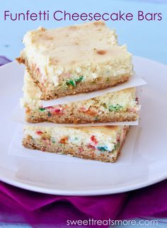 The Recipe Critic: Funfetti Cheesecake Bars {Guest Post}