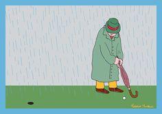 Golf in the rain by Federico Monzani