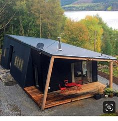 Wonderful Container Cabin Design Ideas That Surrounded With Nature 27 Cabin Design, Tiny House Design, Shed Plans, House Plans, Barn Plans, Garage Plans, Container Cabin, Tiny House Cabin, Future House