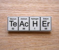 Science teacher gift periodic table geeky nerd typography print on i need to make myself a name plate from the periodic table urtaz Image collections