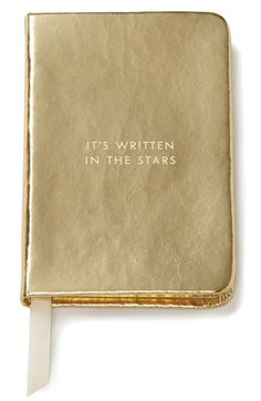 'It's in the stars,' notebook