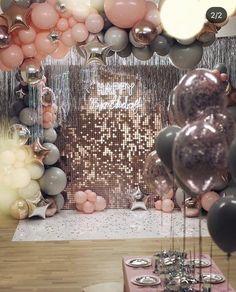 Red Birthday Party, Birthday Goals, Birthday Balloon Decorations, Birthday Party Decorations, Balloon Garland, Balloons, Deco Ballon, Disco Party, Its My Bday