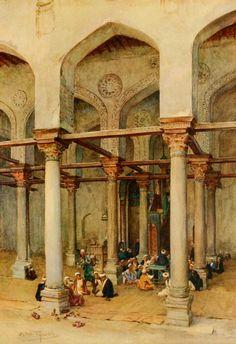 Tyndale, Walter (1855-1943) - An Artist in Egypt 1912, Arab school. #egypt