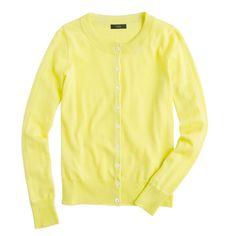 Tippi cardigan in yellow | J Crew