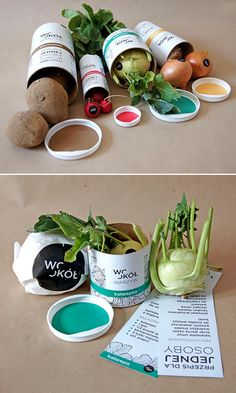Round vegetables | Inspirational Packaging for Web Designers