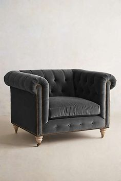 Anthropologie - Lyre Chesterfield Armchair