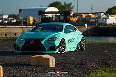Turquoise Rocket Bunny Lexus RC F with Vossen Wheels | automotive99.com