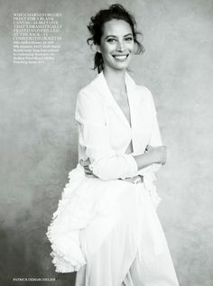 March 2014 issue of British Vogue, Christy Turlington photographed by Patrick Demarchelier