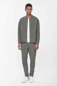 Wool jersey jacket