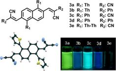 Synthesis, physical properties of X-shape naphthalene-cored π-conjugated oligomers
