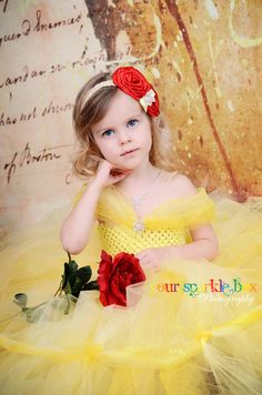 Belle rosette headband Beauty and the Beast by YourSparkleBox, via Etsy.