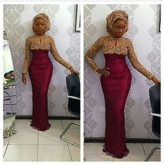 Online Hub For Fashion Beauty And Health: Elegant Lace Aso-Ebi Styles For Beautiful Women