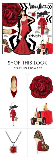 """The Holiday Wish List With Neiman Marcus: Contest Entry"" by anne-symanski-goranson ❤ liked on Polyvore featuring Jimmy Choo, Judith Leiber, Soffieria de Carlini, Yves Saint Laurent, David Yurman, Neiman Marcus, Christian Louboutin, La Petite Robe di Chiara Boni, giftguide and neimanmarcus"