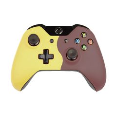 Custom Xbox One Controller Wireless Glossy Half-Green Beige-And-Half-Fir Green Custom Xbox One Controller, Xbox Controller, Beige, Green, Orange, Yellow, Black, Videogames, First Aid